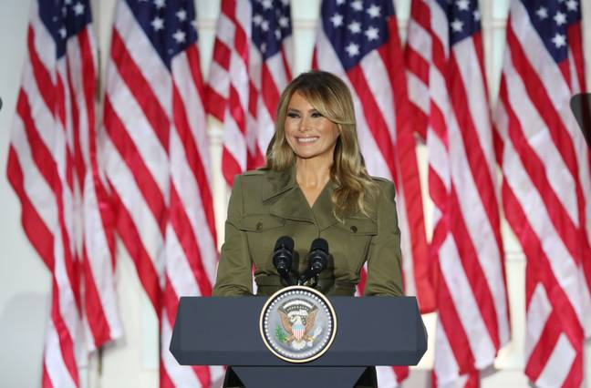 Melania photographed in August. Credit: PA
