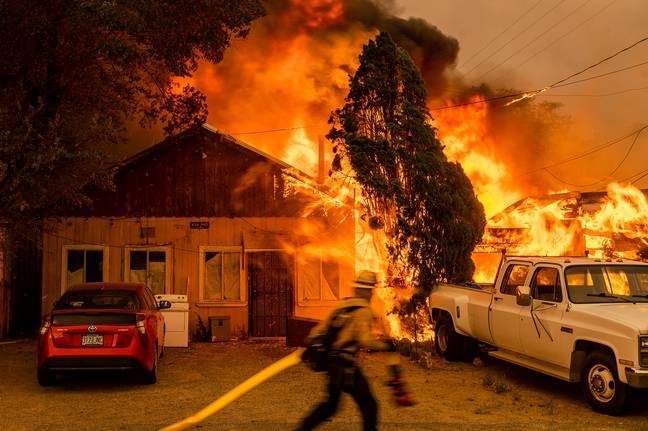 A wildfire has raged through northern California. Credit: PA