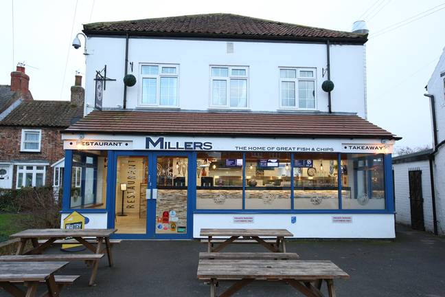 Millers Chippy in Haxby, North Yorks. Credit: SWNS