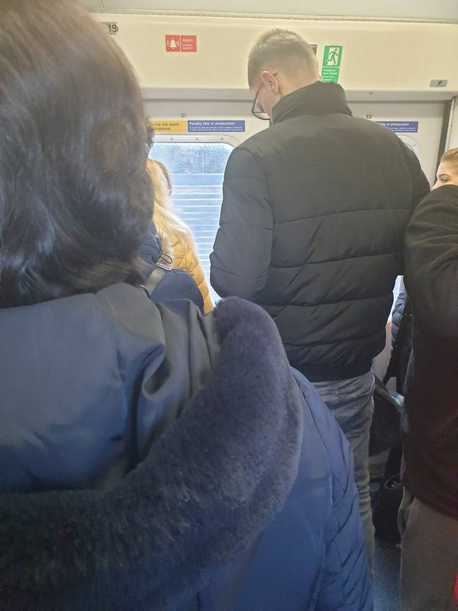 One NHS worker said it was impossible to keep two metres away from other commuters.