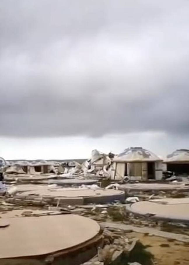 The destruction left by the tornado. Credit: Pear Video