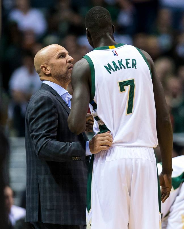 Jason Kidd didn't take kindly to Thon Maker owning an Android phone. Credit: PA