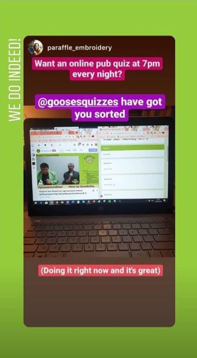 Another satisfied customer. Credit: Goose's Quizzes/Instagram