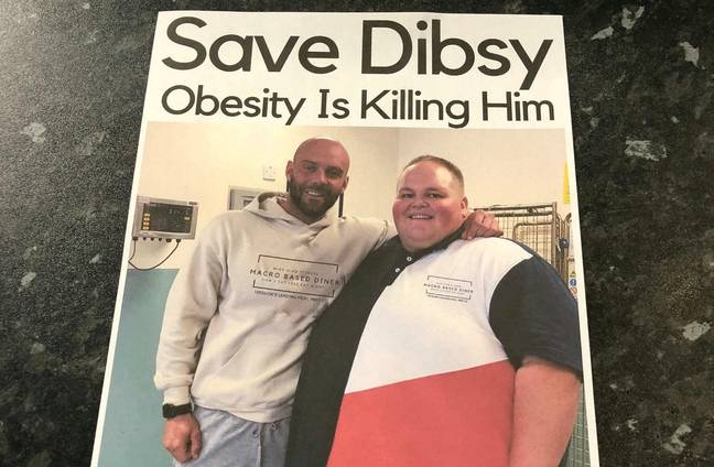 Dibsy and personal trainer Mike. Credit: SWNS