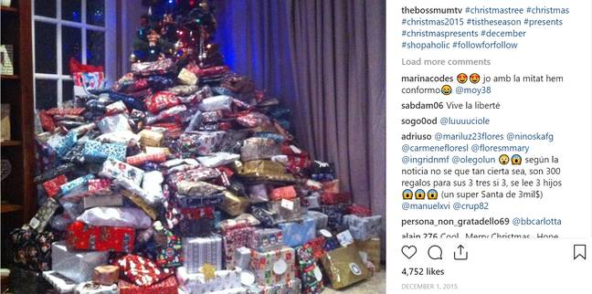 Emma Tapping's massive festive present piles have been talked about a lot in recent years. Credit: Reddit/thebossmumtv
