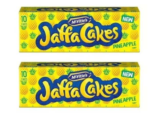The new Pineapple Jaffa Cakes. Credit: McVitie's
