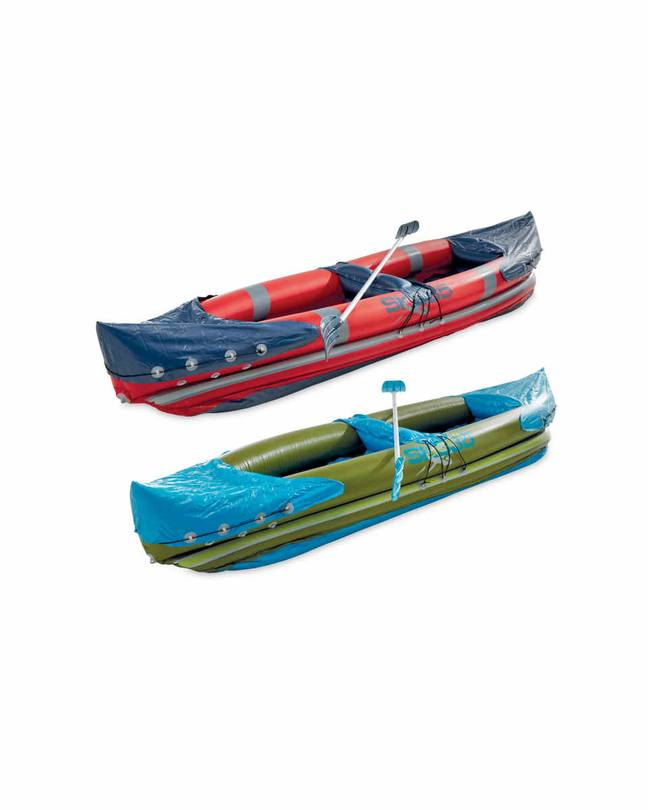 Aldi's inflatable kayaks have sold out online ' Credit: Aldi