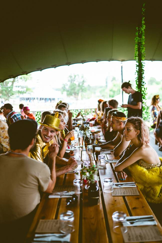 A sit-down meal at the Brother Marcus restaurant was a festival first for me. Credit: El Dorado