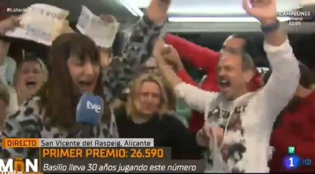 Natalia celebrated her win. Credit: RTVE