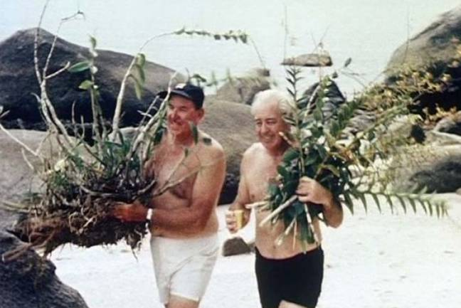 Harold Holt with Bob Dyer in 1967. Credit: National Archives