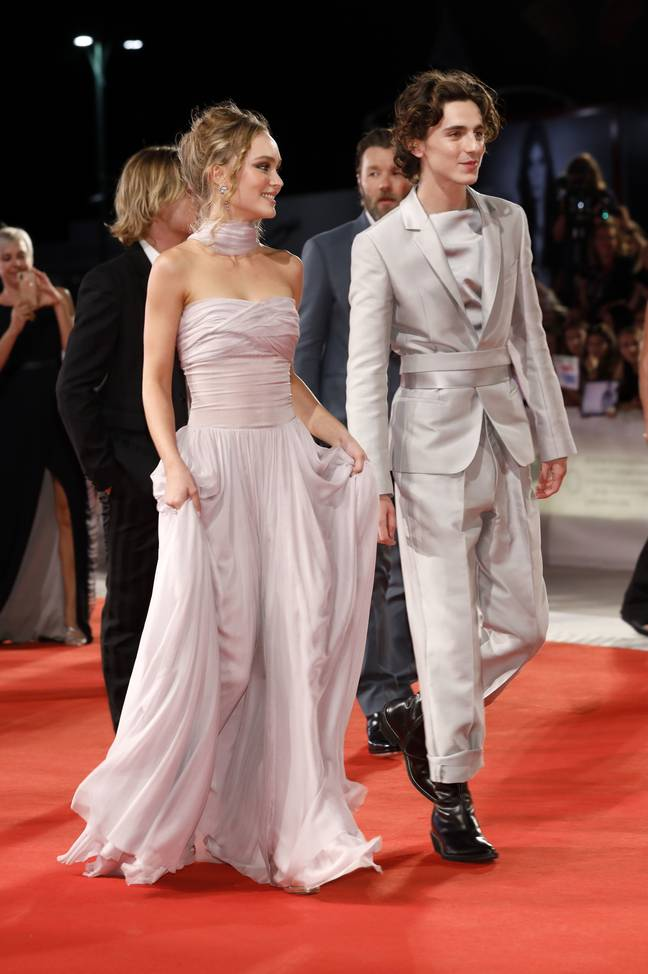 Lily-Rose Depp and Timothee Chalamet attending 'The King' premiere in September 2019. (Credit: PA)