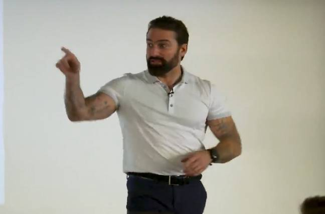 David Br-, sorry, Ant Middleton. Credit: YouTube/Norwich City Football Club