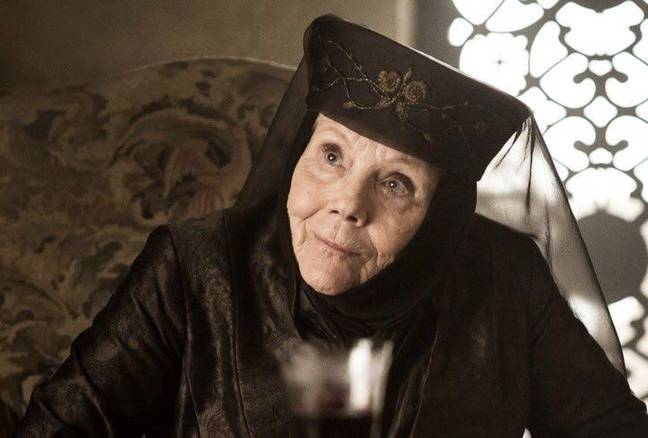 Diana Rigg as Olenna Tyrell in Game of Thrones. Credit: HBO
