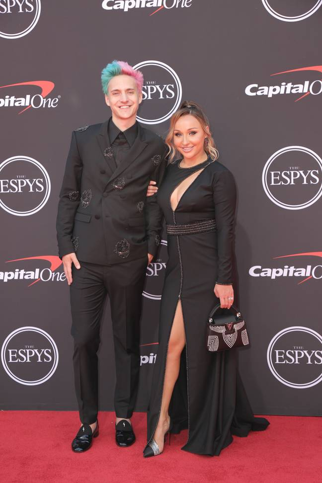 Ninja with his wife Jessica Goch. Credit: PA