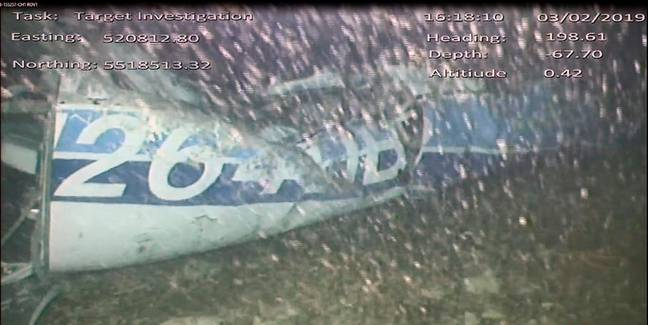 Image of the plane underwater. Credit: PA
