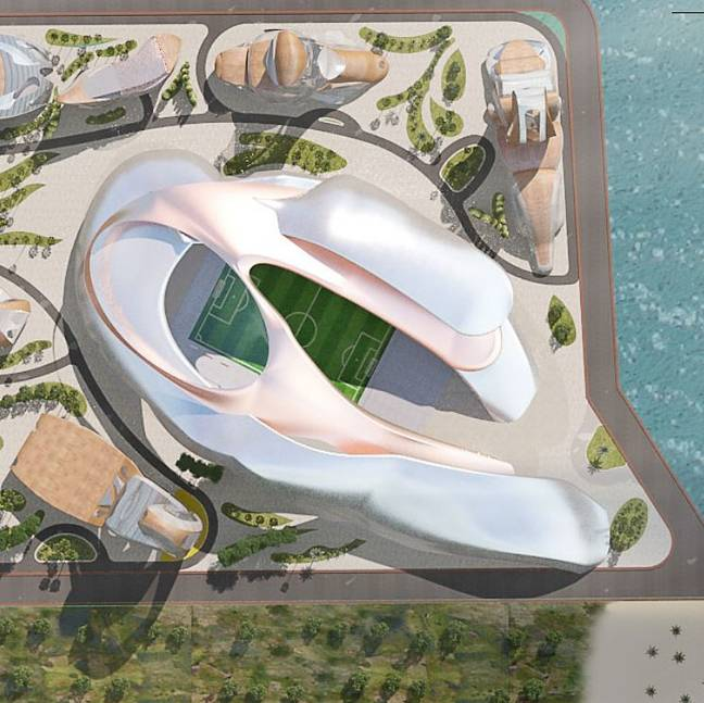 AKONCITY will feature a Multi-Functional Stadium. Credit: akoncity.com
