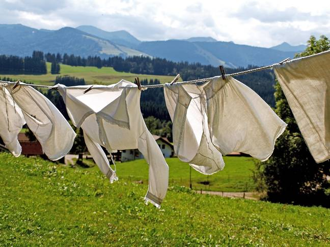 Drying clothes outdoors isn't an option when the sun's not playing ball. Credit: Pixabay