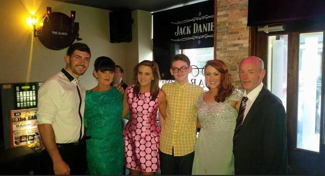 Patrick and the late Susan (second left), with their kids Jason, Daniel, Natasha and Amanda. Credit: LADbible