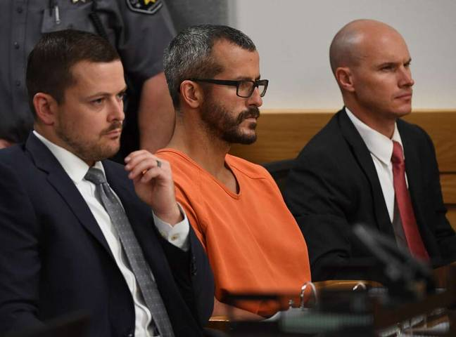 Chris Watts was sentenced to three consecutive life terms in prison. Credit: Netflix
