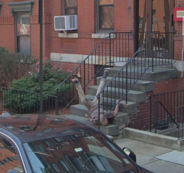 This lad isn't having the best day. Credit: Google Street View