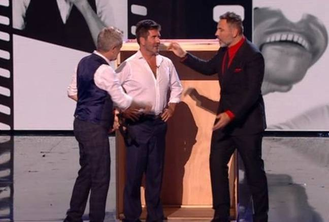 Cowell begrudgingly returned to the stage. Credit: ITV