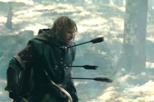 Poor old Boromir... Credit: New Line Cinema