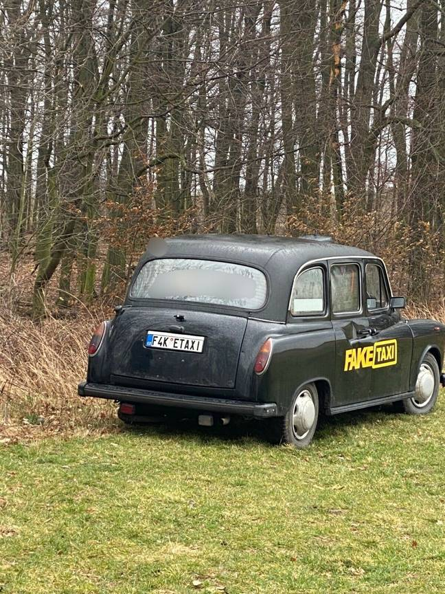After some 2,000 free rides, the original Fake Taxi is being retired. Credit: ebay
