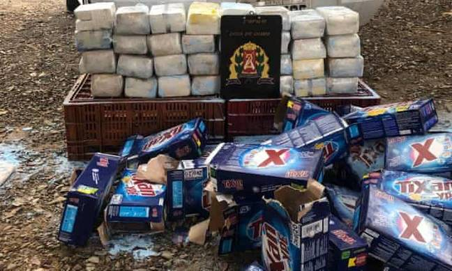 Police said the cocaine paste could have been made into around 200kg of saleable cocaine. Credit: São Paulo Police