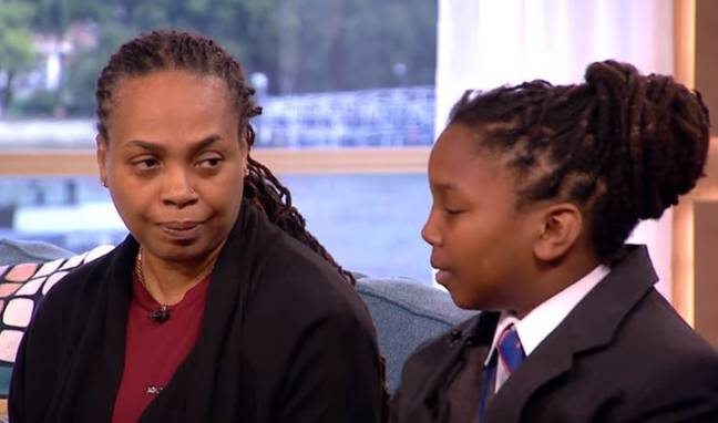 Chikayzea Flanders with his mum, Tuesday. Credit: ITV/Good Morning