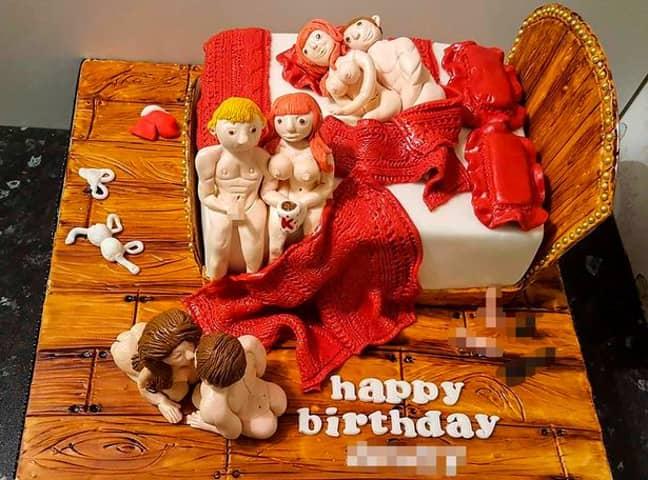 Kinky Birthday Cake