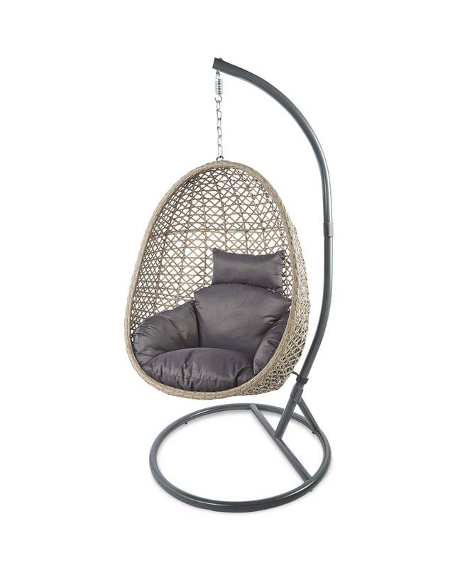 Aldi's £149 hanging egg chair is back in stock ' Credit: Aldi