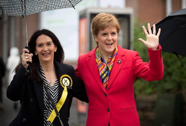 Margaret Ferrier with Nicola Sturgeon. Credit: PA