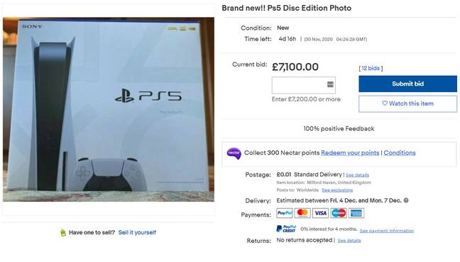 It's a nice photo but not £7,000 nice. Credit: eBay