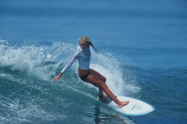 Bethany Hamilton in 2004. Credit: PA