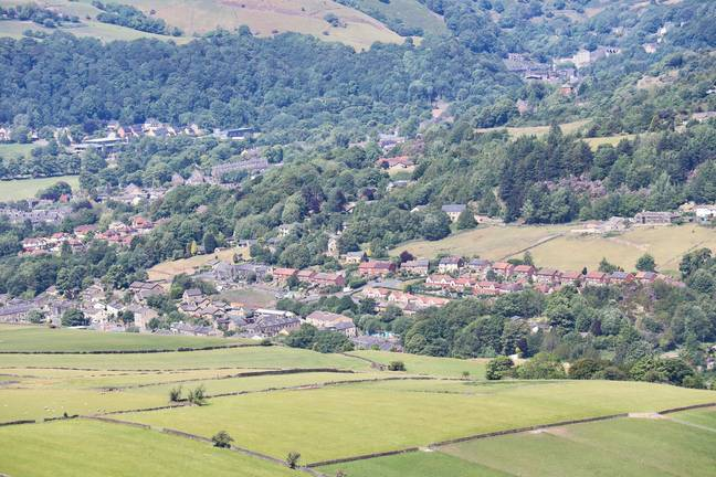 The town of Todmorden has a history of UFO sightings. Credit: Shutterstock