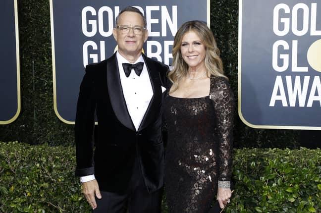 Hanks with wife Rita Wilson. Credit: PA