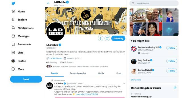 The New Twitter Layout. Credit: Twitter