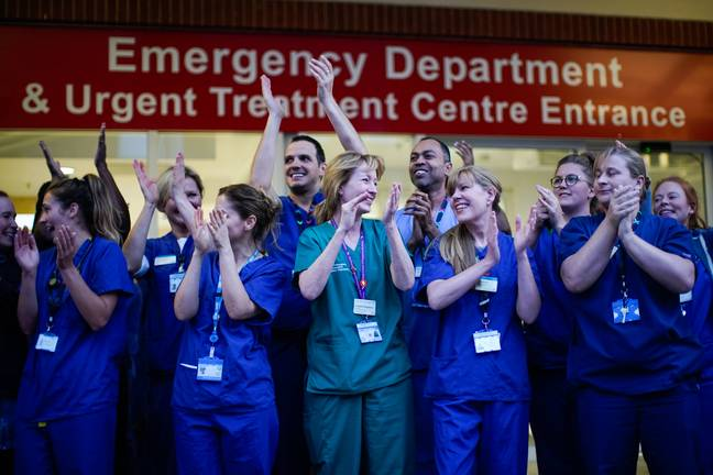 Over the past few weeks, millions have come out to show their appreciation to the selfless work of NHS staff. Credit: PA