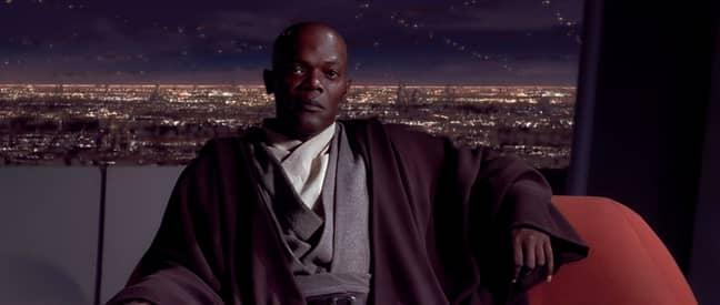 Samuel L Jackson as Mace Windu. Credit: Lucasfilm