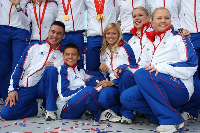 Tom Daley in the 2008 Team GB diving squad for the Beijing Olympics. (Credit: PA)