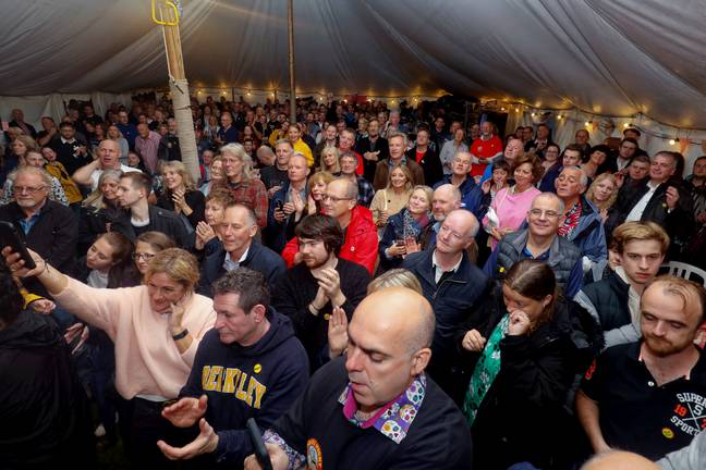 More than 430 Nigels gathered in a pub for a world record attempt. Credit: SWNS