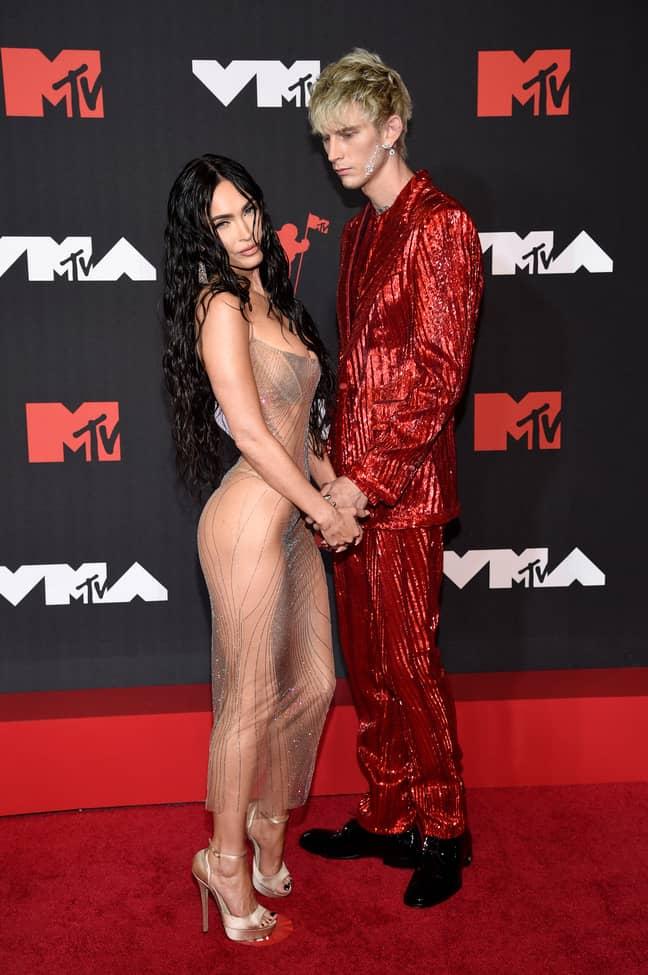 MGK and Megan Fox at the MTV Video Music Awards 2021. (Credit: PA)