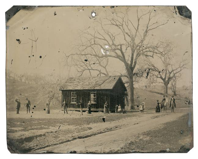 The full photo - the Croquet Tintype. Credit: Wikimedia Commons/Unknown