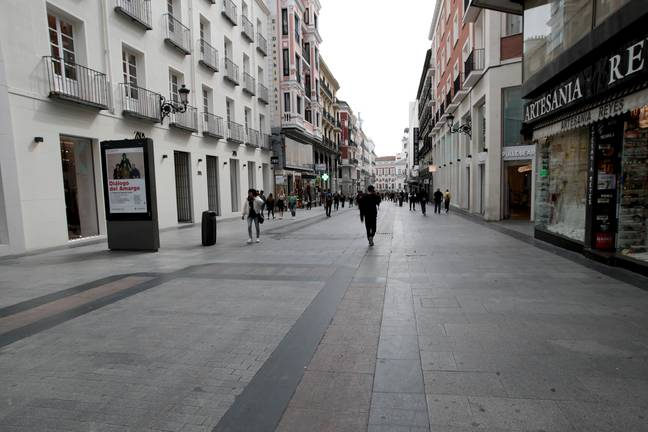 The streets of Madrid. Credit: PA