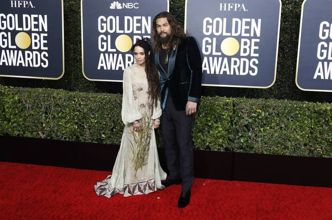 Jason Momoa with his wife Lisa Bonet. Credit: PA