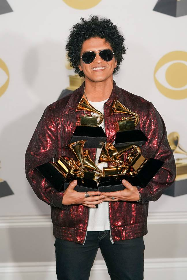 Bruno Mars. Credit: PA