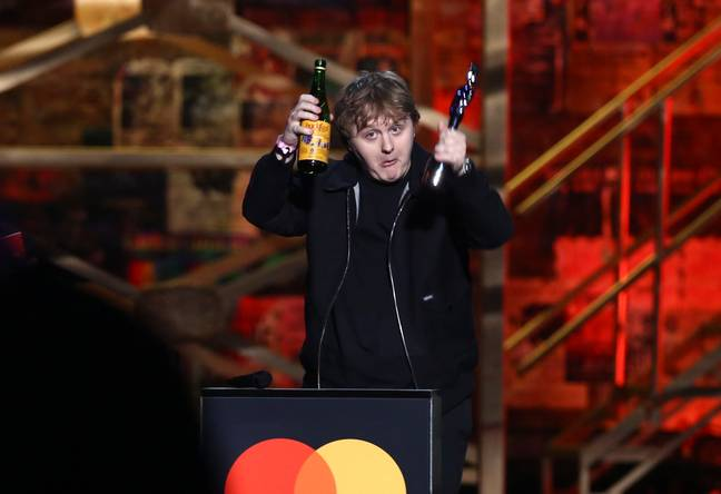 Capaldi getting up for his second BRIT Award. Credit: PA
