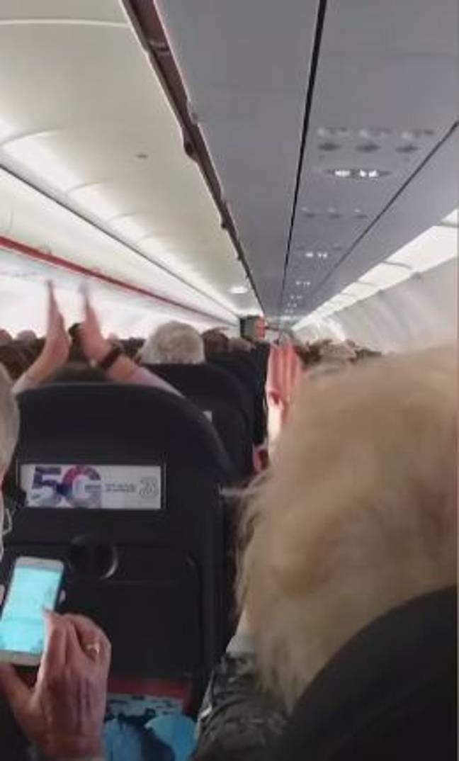 The speech was met with applause from passengers. Credit: Storytrender