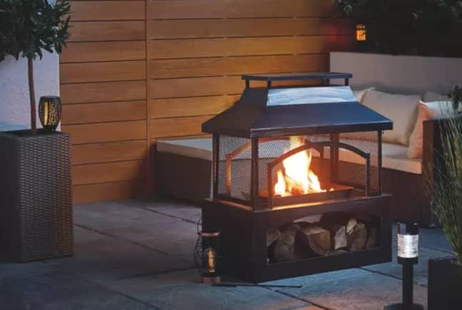 Aldi's fire pits and log burners return to stores next week. Credit: Aldi