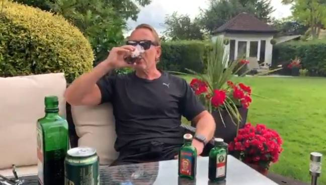 Ray does not advise you try this at home. Credit: Twitter/Ray Parlour